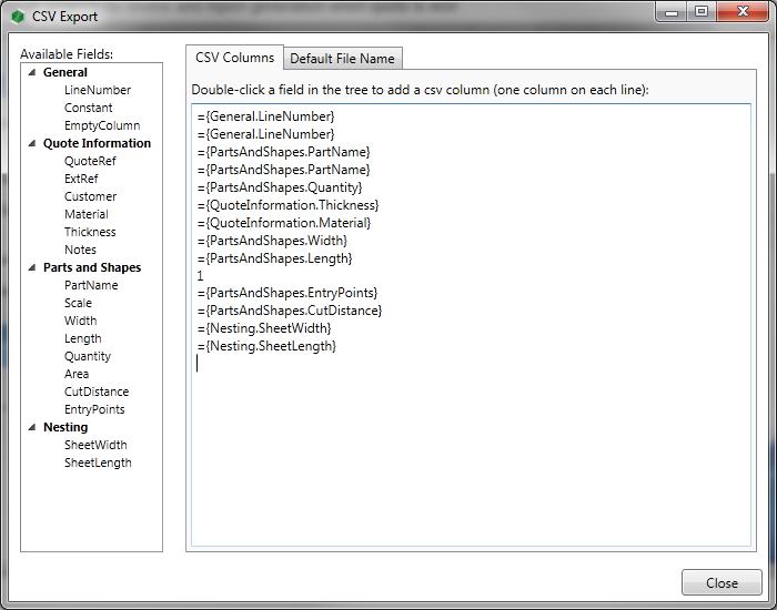 Customize CSV formats for MRP integration